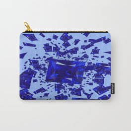 Blue Sapphire Gems Infusion Abstract Patterns Carry-All Pouch