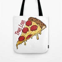 pizza Tote Bags featuring Pizza by jeff'walker