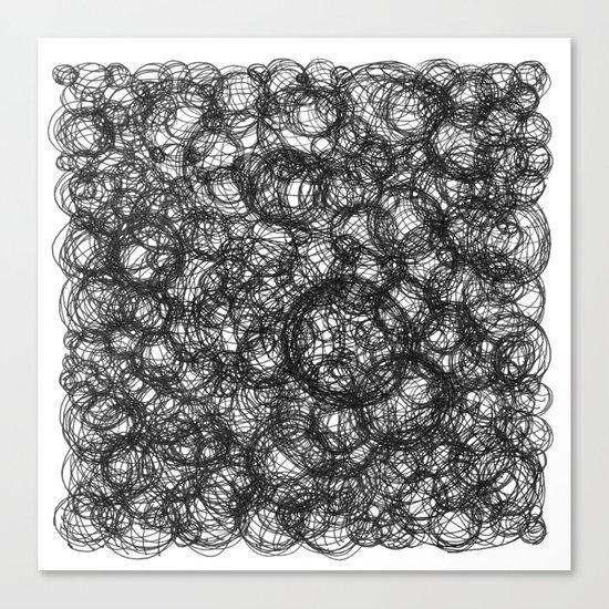 Black Ink on White Canvas Print