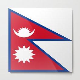 flag of nepal-nepal,buddhism,Nepali, Nepalese,india,asia,Kathmandu,Pokhara,tibet Metal Print