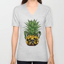 Pineapple French Bulldog Unisex V-Neck