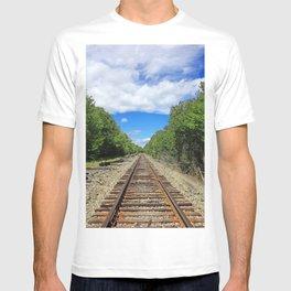 Beautiful Day Train Tracks T-shirt