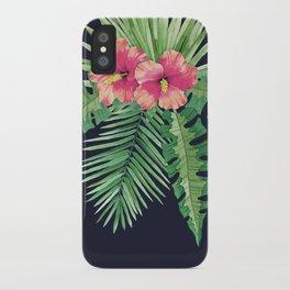 Tropical Cluster Dark iPhone Case