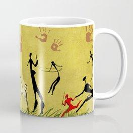 Cavemen yellow Coffee Mug