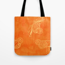Goldfish with Pattern Tote Bag