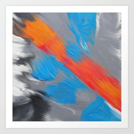Warm stream, abstract painting Art Print