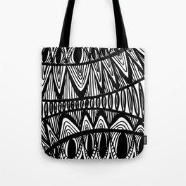 Original Creative black and white pattern illustration Tote Bag