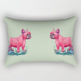animals in chairs # 23 French Bull Dog Rectangular Pillow