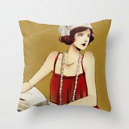 Flapper Girl #2 Throw Pillow