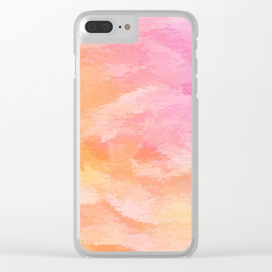 Soft Pastel Floral Blend Clear iPhone Case