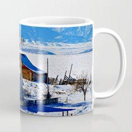 Montana Winter Postcard Greeting Coffee Mug