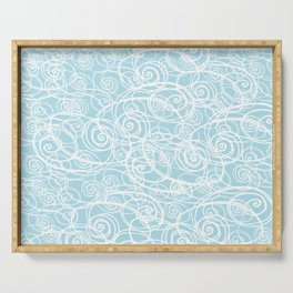 Drizzle & Fog - blue too Serving Tray