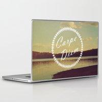 carpe diem Laptop & iPad Skins featuring Carpe Diem  by Rachel Burbee