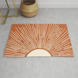 Terracota Minimalist Sun Rug