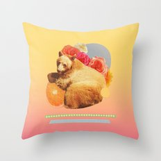 in the warm july sun Throw Pillow