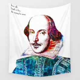 Graffitied Shakespeare Wall Tapestry