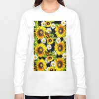 sunflowers Long Sleeve T-shirts featuring Sunflowers by Saundra Myles