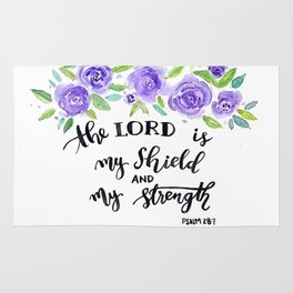 The Lord is my shield Rug