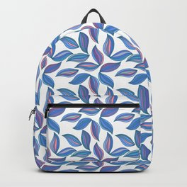 Watercolor Leafs Contour Lines. Vector Art, Seamles Backpack