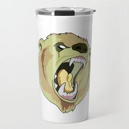 Grizzly-bear badge Travel Mug
