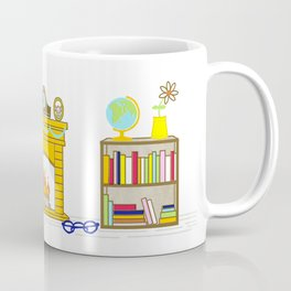 Busy Reading Mouse Coffee Mug