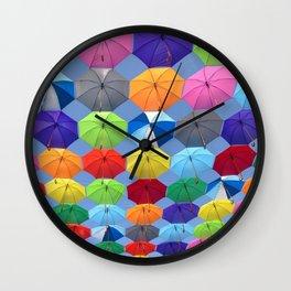 Myriads of Umbrellas Wall Clock