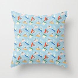 Animal Snow Globes Throw Pillow