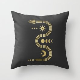 The Gold Snake Throw Pillow