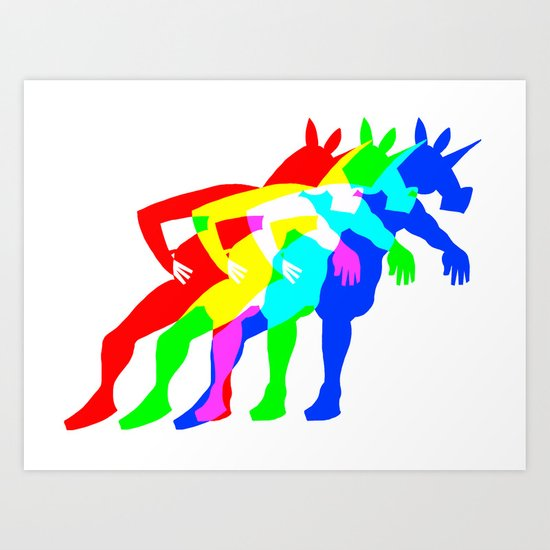 RGB Unicorn Art Print