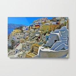 Colors of Santorini Metal Print
