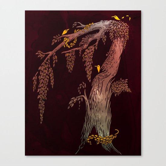 Tree Birds Canvas Print