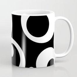 Circles Dots Bubbles :: Black Pepper Coffee Mug