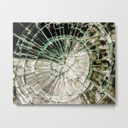 Web of Glass Metal Print
