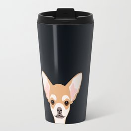 Misha - Chihuahua art print phone case gift for dog owner and dog people Travel Mug