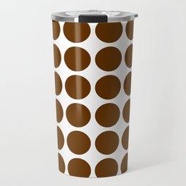 Nutmeg Mocha Neutral Dots Travel Mug