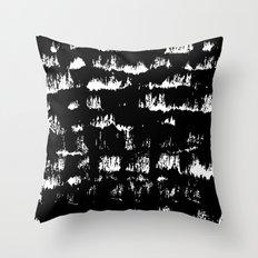 Black pattern#1 Throw Pillow
