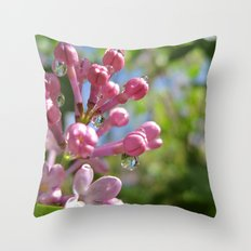 p i n k Throw Pillow
