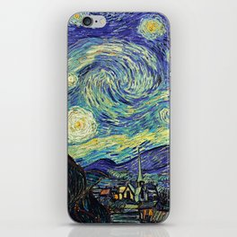 Starry Night Painting Van Gogh iPhone Skin