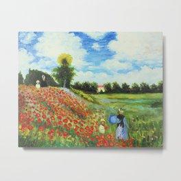 Claude Monet - Poppy Field at Argenteuil Metal Print