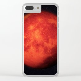 Super bloody moon Clear iPhone Case