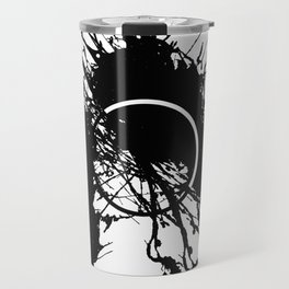 Form Out Of Chaos - Black and white conceptual abstract Travel Mug