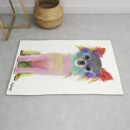 Colorful Chihuahua Dog Art By Daniel MacGregor Rug