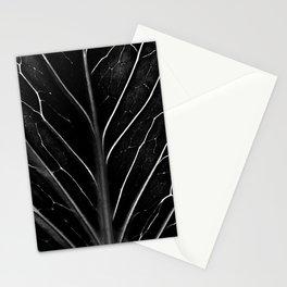 The black leaf Stationery Cards