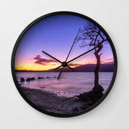 Scottish winter @ blue hour Wall Clock