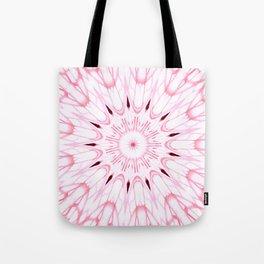 Rose Pink Mandala Explosion Tote Bag