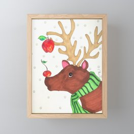 Wishing Rudolf  Framed Mini Art Print