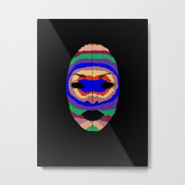 Badu mask Metal Print