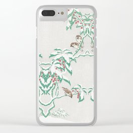 Sparrows in snow Clear iPhone Case