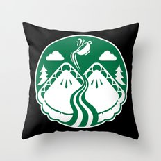 Twin Pies Coffee Throw Pillow