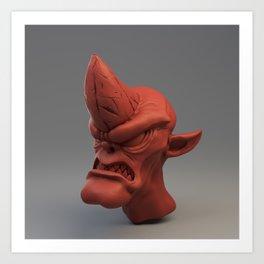 Cobold creature sculpt (red material) Art Print